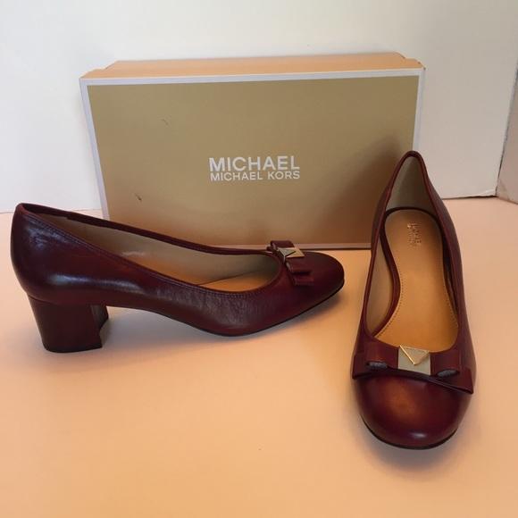 Michael Kors Caroline Mid Block Pump